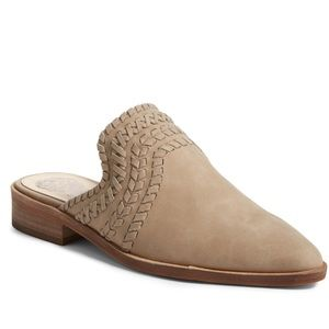 Vince Camuto western tan slides mules